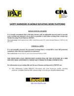 IPAF & CPA Harness Press Release