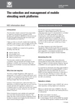 The selection and management of mobile elevating work platforms