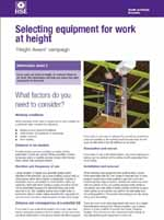 HSE - Selecting equipment for work at height