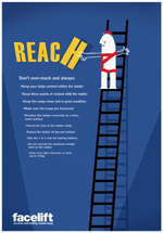 Don't Over-Reach Safety Poster