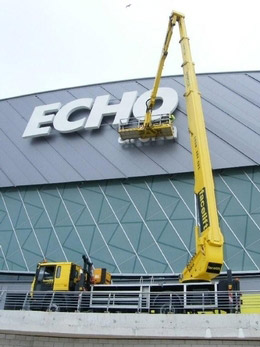 New signs for the Echo Arena