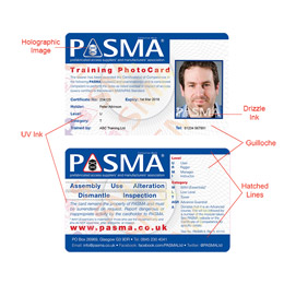 New PASMA Cards and Certificates
