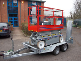 Complete Skyjack Scissor and trailer unit - from 10k