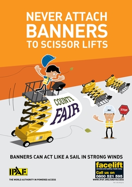 IPAF warns against using banners on scissor lifts