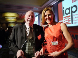 Winners of the Safety Champion of the Year award and the Lifetime Achievement Award at the IAPA Awards 2012
