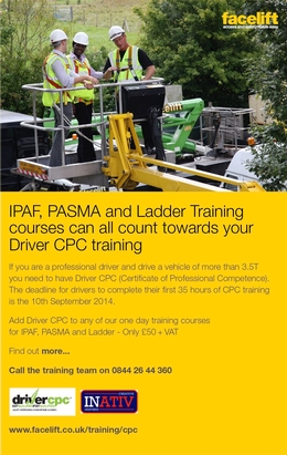 September 2014 deadline for CPC Driver training
