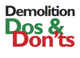 Demolition body produces Do's and Don'ts booklet, including work at height safety guidance