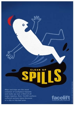 Slips and Trips: New poster explains the risks