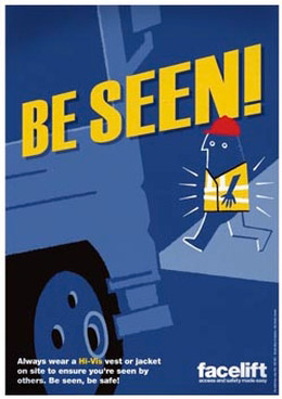 Be seen! - Safety Poster