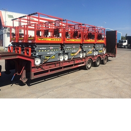 Sixty new electric scissor lifts ready to go