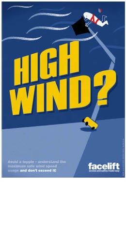FREE Facelift Access Safety Poster 'High Winds'