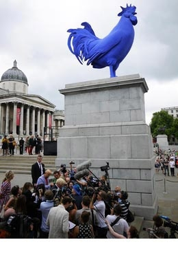 Facelift flashback to 2013 and the blue cock in Trafalgar Square...