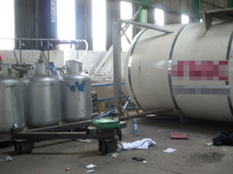 Chemical tank explosion results in workers fall