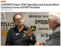 IPAF video shows how reporting helps to keep the industry safe