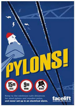 Free safety poster - Pylons!