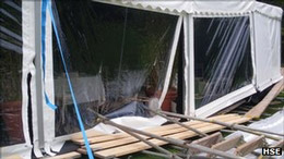 Company fined after scaffolding collapse at wedding