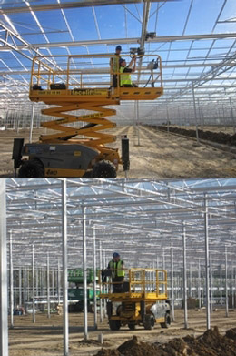 Scissor lifts in the Green House