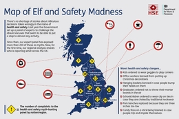 New UK map of bogus 'elf and safety excuses:  Londoners report most 'jobsworth' decisions to myth buster panel