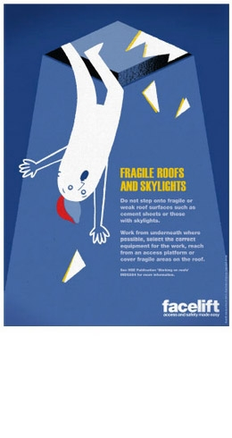 New safety poster from Facelift - Fragile roofs + Skylights