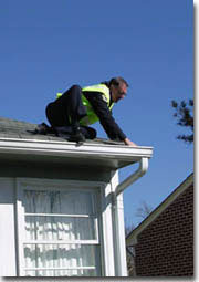 Picture of Guttering on the way down