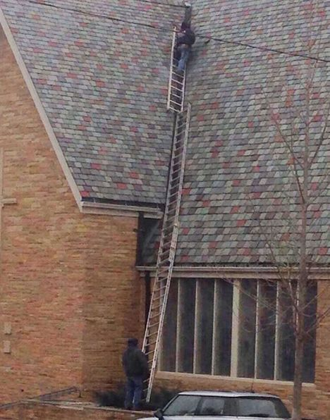 Picture of Reckless ladder fail...