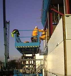 Scissor lift Cladding
