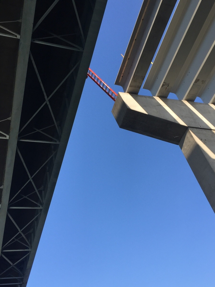 Picture of A ladder in the sky, probably secure but don't look down!