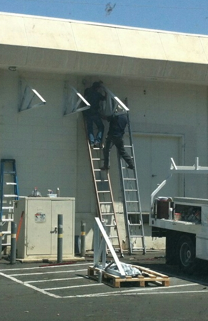 Picture of Two ladders, no brains