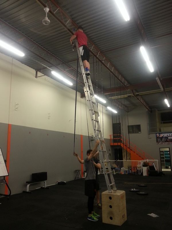 Picture of Exercise equipment isn't made for balancing ladders