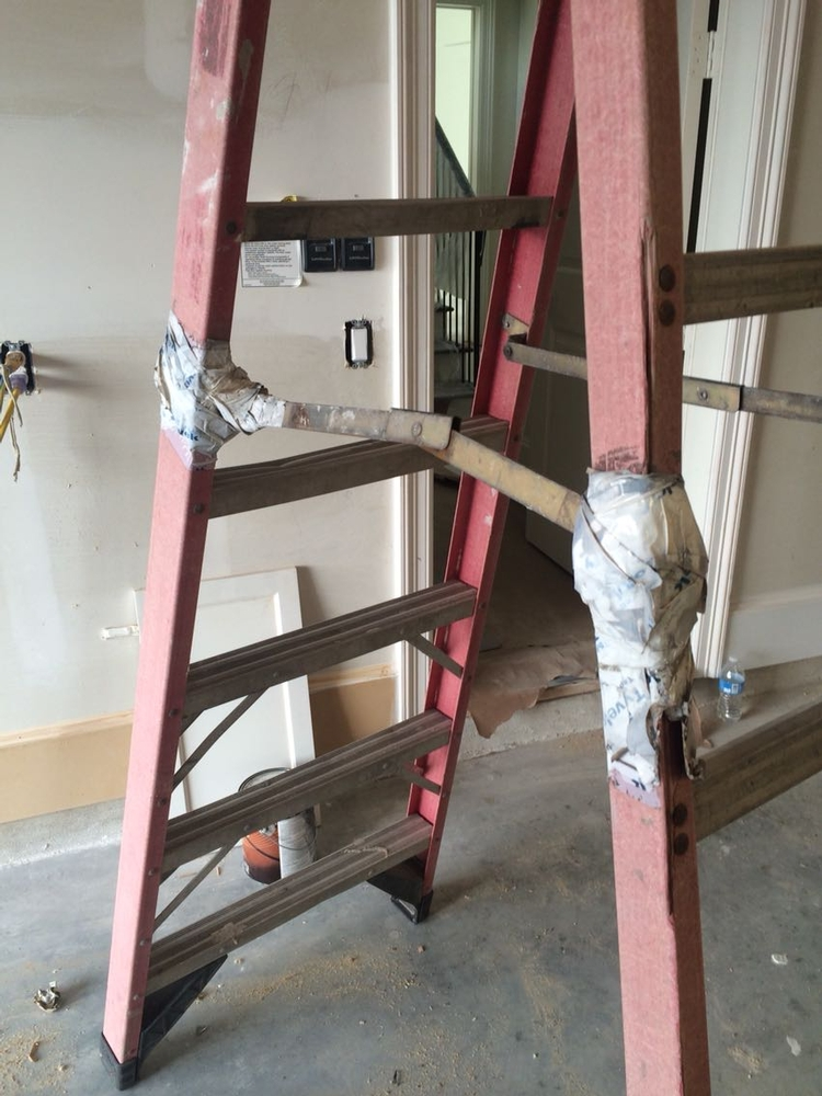 Picture of Time for a new ladder, or a new hospital visit