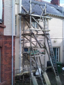 Rogue scaffold tower