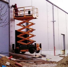 IPAF Candidate for scissor lift training