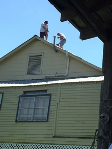 A bit of rope held by your mate on the same roof isn't actually 'safe'