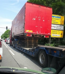 Truck driver risking everyone's lives