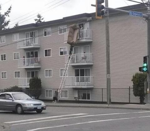 Picture of An impressive but mental sofa delivery service