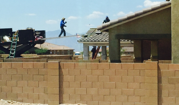 Picture of Roofer taking a risk...