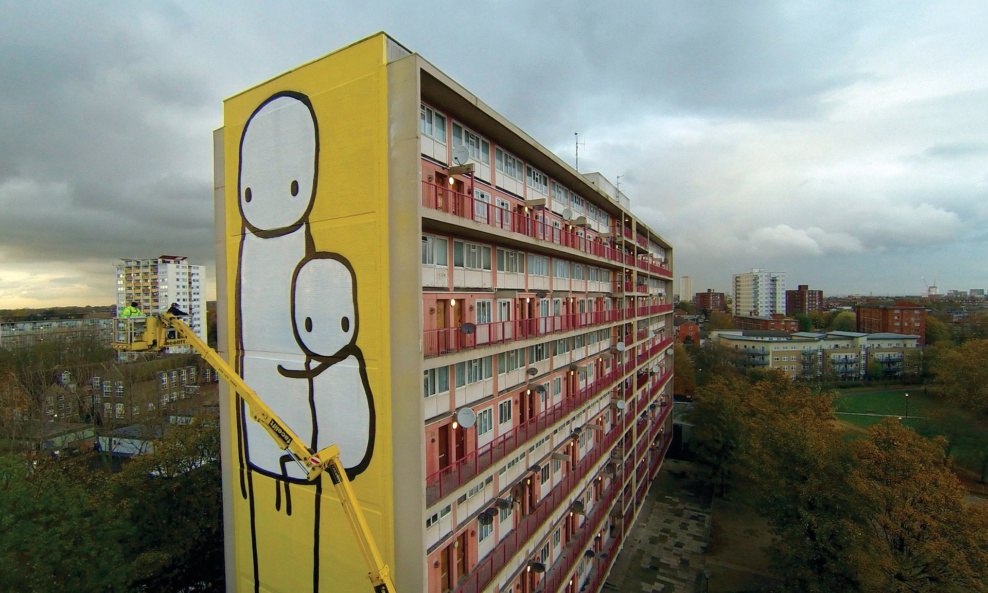 'Big Mother' painting with Stik